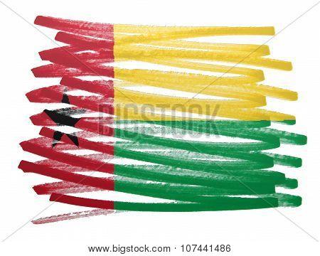 Flag Illustration - Guinea Bissau