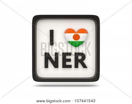 I Love Niger Sign