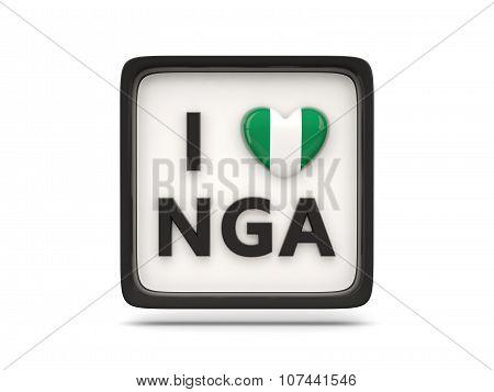 I Love Nigeria Sign