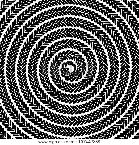 Abstract Dark Spiral Pattern