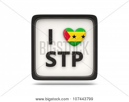 I Love Sao Tome And Principe Sign