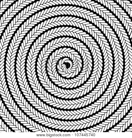 Abstract White Spiral Pattern