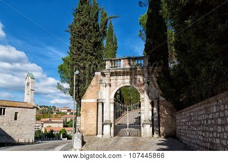 Gate Of University For Foreigners In Perugia, Umbria