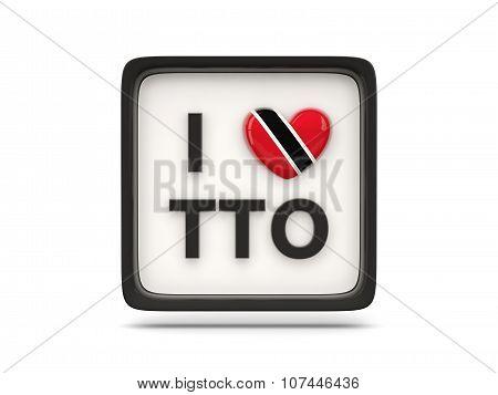 I Love Trinidad And Tobago Sign
