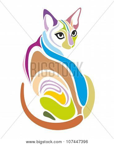 Cat Vector Decorative graphic design