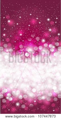 Shiny Purple winter christmas invitation background design