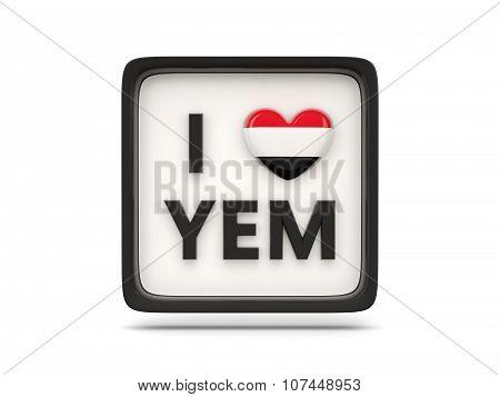I Love Yemen Sign