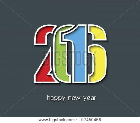 2016 Happy New Year Creative Background Design For Greetings Card