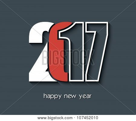 2017 Happy New Year Creative Background Design For Your Greetings Card
