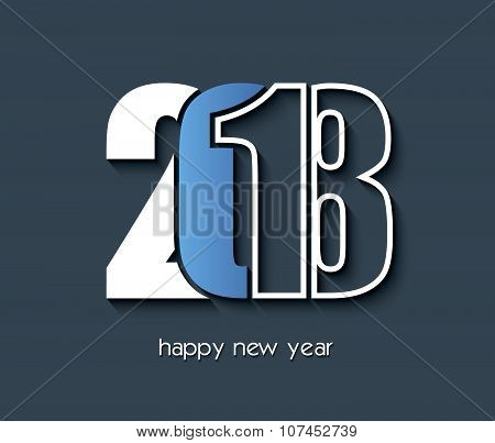 2018 Happy New Year Creative Background Design For Your Greetings Card