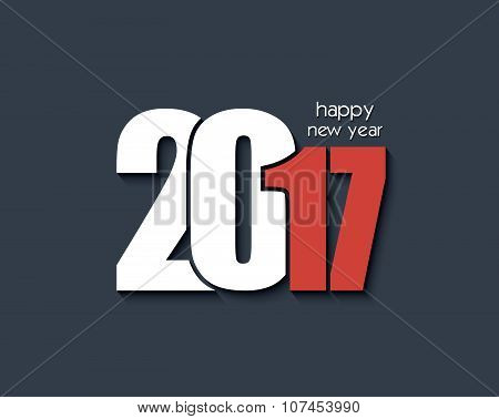 2017 Happy New Year Background For Your Greetings Card