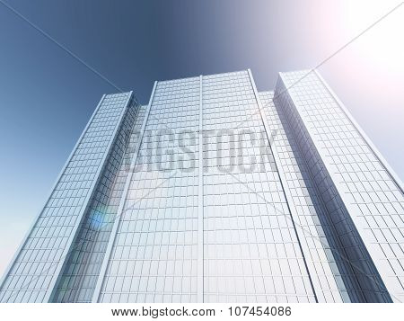 skyscrapers 3D rendering