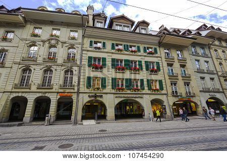 Bern, Townhouses At The Most Visited Street