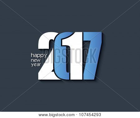 2017 Happy New Year Background Design For Your Greetings Card