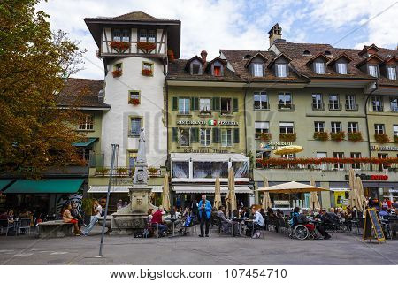 Dutch Tower At Waisenhausplatz In Bern