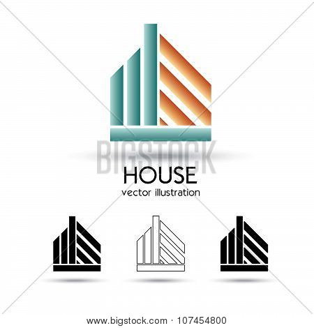House Symbol Set Of Vector Illustration