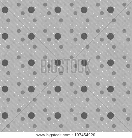 Gray Polka Dot  Abstract Design Tile Pattern Repeat Background