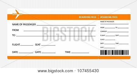 orange boarding pass