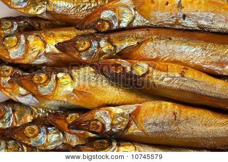Golden Smoke-dried  Fish