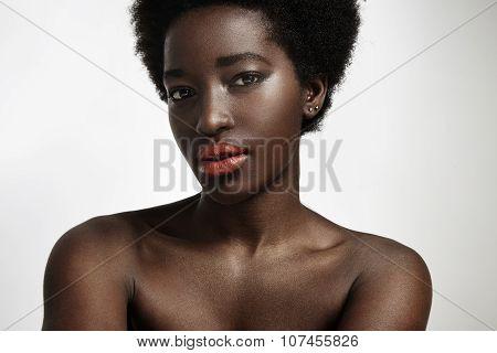 Pretty Black Man With Strobing Skin