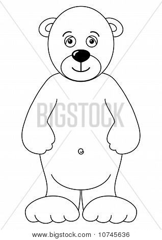Teddy-bear isolated, contours