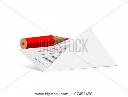 icon paper and pencil.