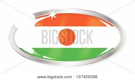 Niger Flag Oval Button