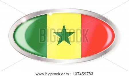 Senegal Flag Oval Button