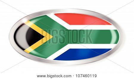 South Africa Flag Oval Button