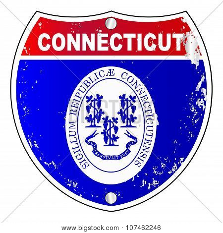 Connecticut  Interstate Sign