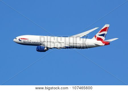 British Airways Airplane Boeing 777-200Er London Heathrow Airport