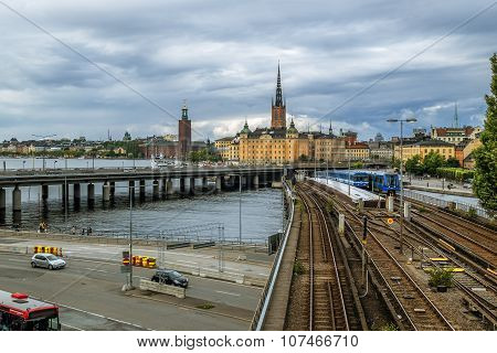 View Of The Old Town Gamla Stan In Stockholm.sweden.