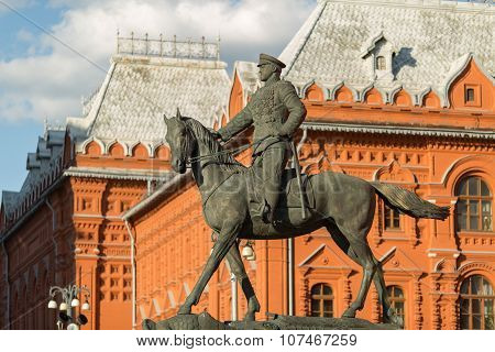 Marshal Zhukov On Horseback