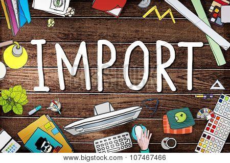 Export Import Logistic Transportation Concept