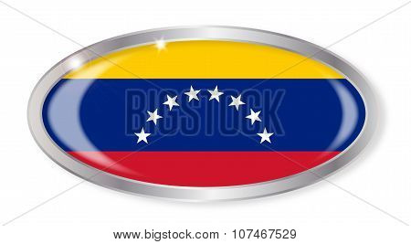 Venezuela Flag Oval Button