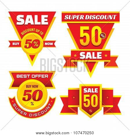 Sale - creative vector badges set. Special discount vector badges collection. Super offer labels.