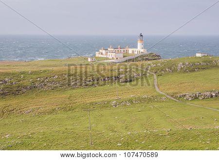 Lighthouse at West coast of Scotland