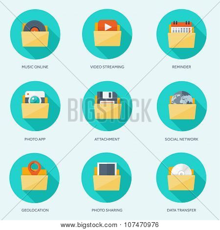 Vector illustration. Flat background with envelope. Emailing concept background. Spam and sms writin