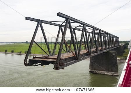 Deconstruction Of An Old Bridge