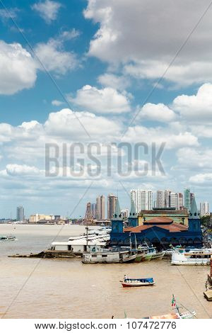 BELEM DO PARA, BRAZIL - CIRCA NOVEMBER 2015: View of Belem do Para in Brazil