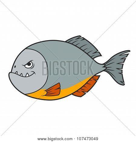 Piranha Cartoon, vector