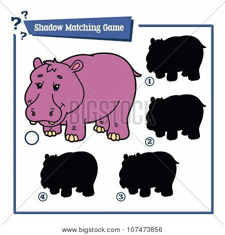 funny shadow hippo game.