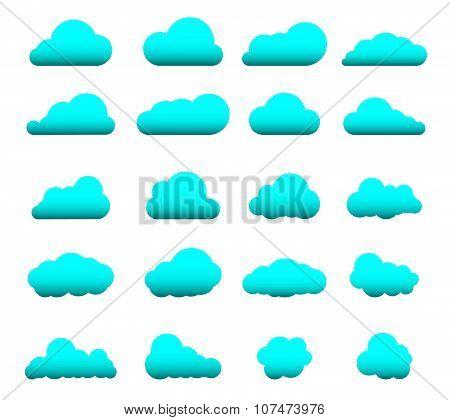 Cloud Shape Set 20