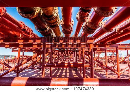 Oil tanker transportation pipeline