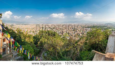 Panoramic cityscape of Kathmandu.