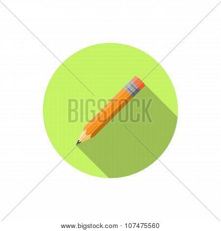 Pensil Icon Flat