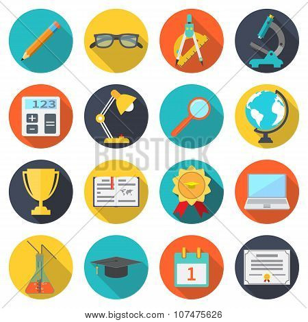 Set Icons Education