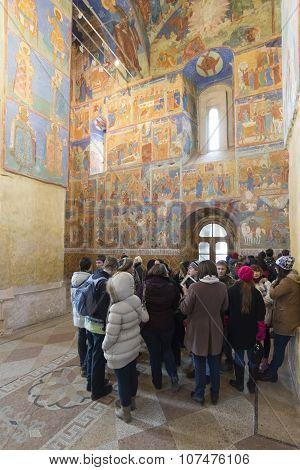 SUZDAL, RUSSIA - 06.11.2015. Transfiguration Cathedral. UNESCO World Heritage Site. Golden Ring Trav