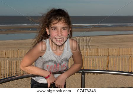 Girl 10 Years Old Having Fun