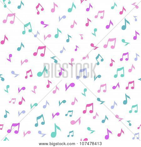 Abstract music seamless pattern background vector illustration for your design.